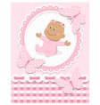 Smiling African baby girl vector image