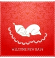 New baby red shower invitation vector image