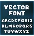 crystal font vector image