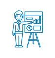 analyst linear icon concept analyst line vector image vector image