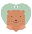 Animal set Portrait of a bear in love Flat vector image vector image