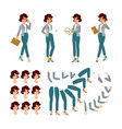 animate businesswoman character young lady vector image vector image