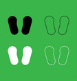 baby footprint in footwear icon black and white vector image vector image