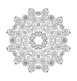 Beautiful floral mandala vector image