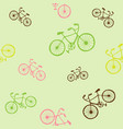bike seamless pattern for vector image vector image