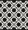 black and white geometric seamless floral ornament vector image