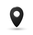 Black map location sign marker isolated