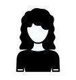 black silhouette thick contour of faceless half vector image vector image