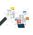 business paperwork organization concept vector image vector image