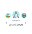chakra system concept icon vector image
