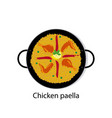 chicken paella vector image vector image