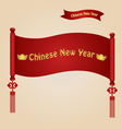 Chinese new year background with Chinese New Year vector image