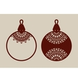 Christmas balls with lace pattern vector image vector image