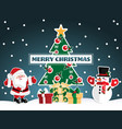 christmas holiday season background with merry vector image vector image