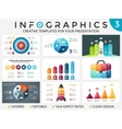 circle arrows infographic set cycle vector image vector image
