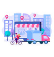 convenience of shopping online vector image vector image