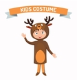 Deer kid costume isolated vector image vector image