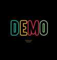 demo font rounded bold color line style vector image vector image