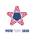 election voting poster in united states print of vector image vector image