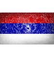 Flags Republika Srpska with broken glass texture vector image