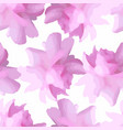 floral pattern with peony or roses flowers vector image