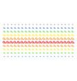 gears shape halftone spectrum pattern vector image vector image