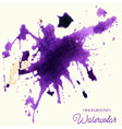 Hand drawn watercolor background stain watercolor vector image vector image