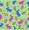 happy easter day pattern background vector image vector image