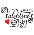 happy valentine day hand lettering vector image vector image