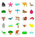 herbivore icons set cartoon style vector image vector image