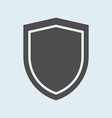 Icon of shield Defense protection or safety symbol vector image vector image