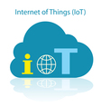 IoT cloud icon vector image vector image