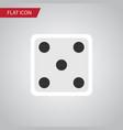 isolated dice flat icon backgammon element vector image