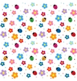 Ladybugs and flowers background vector | Price: 1 Credit (USD $1)