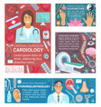 medical banners for hospital services and doctors vector image vector image