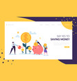 money profit grow business landing page investment vector image vector image