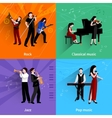 Musicians Flat Set vector image vector image