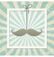 Mustache retro background vector image vector image