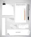 Note book and note papers Business working vector image vector image