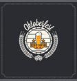 oktoberfest logo design background vector image vector image