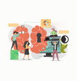 open mind with key concept flat vector image