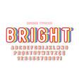 original display rainbow font design alphabet vector image