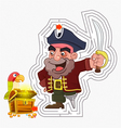 Pirate treasure maze game vector image vector image