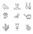 Plants icons vector image vector image