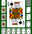 Playing cards of Spades suit vector image vector image