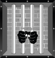 prison bars freedom with hand vector image vector image
