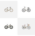 realistic old bmx brand elements set of vector image vector image