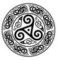 round celtic design triskele and celtic pattern vector image