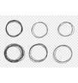 round hand drawn scribble frames set vector image vector image
