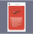 route mobile vertical banner design design vector image
